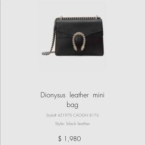 Small Dionysus Gucci purse black